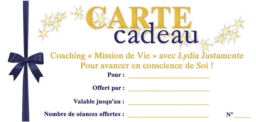 Cartes Cadeaux Coaching Mission de Vie