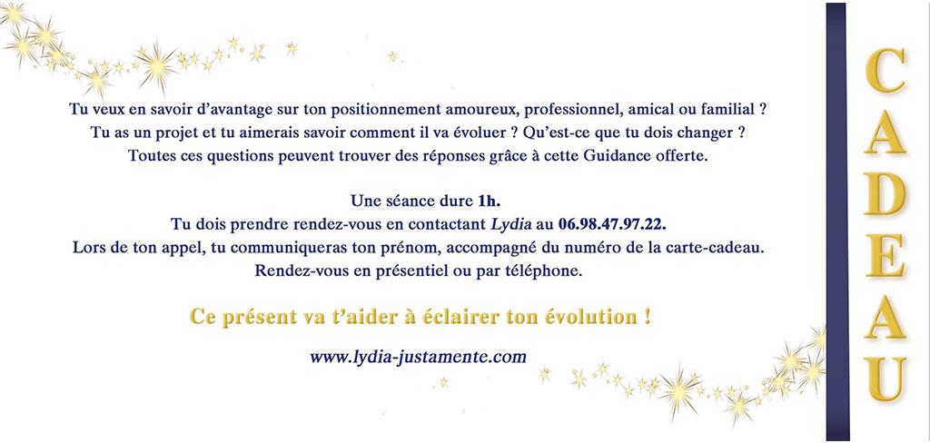 Carte Cadeau Séance de Guidance Médiumnique